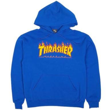 Sudadera Thrasher Logo blue flames