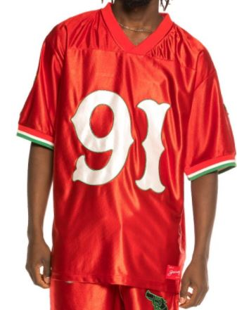 camiseta grimey the loot footbal jersey red