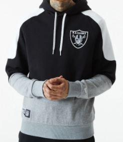 Sudadera New era raiders panel NFL black