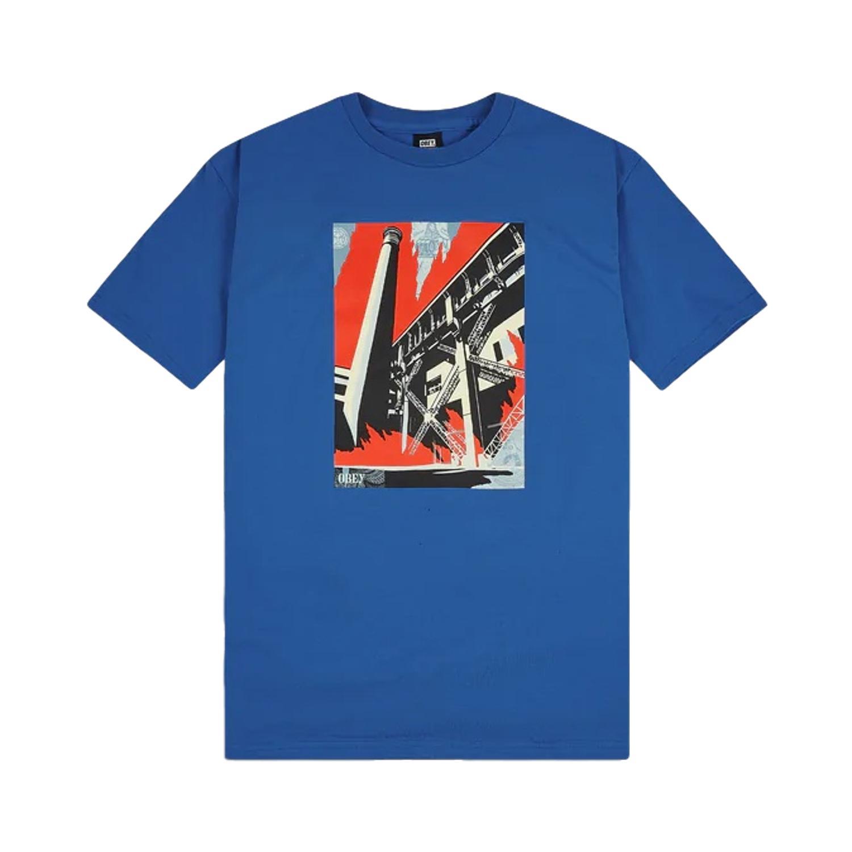 Obey Camiseta fosil factory blue