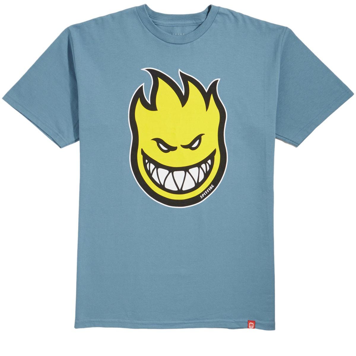 spitfire tee yellow logo blue tee