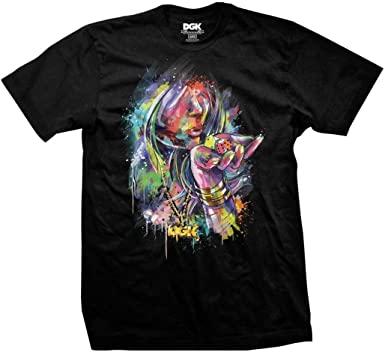 camiseta dgk good luck black