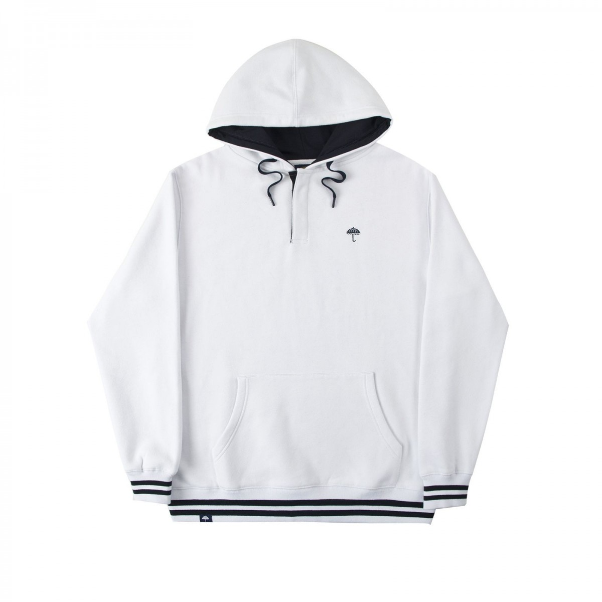 Sudadera hélas buttoned hoodie white