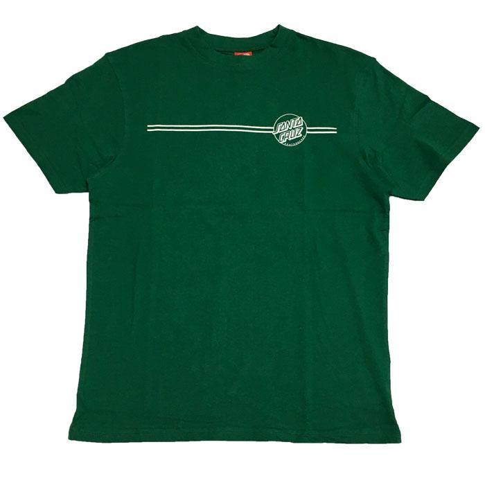 camiseta santa cruz open dot stripe green