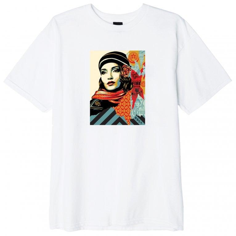 Camiseta Obey fire sale White