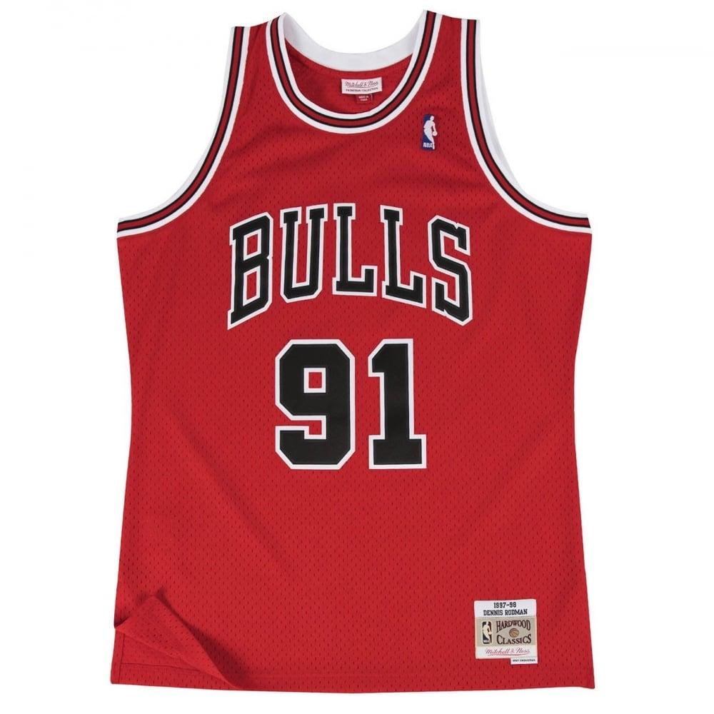mitchell & Ness Dennis rodman chicago bulls red