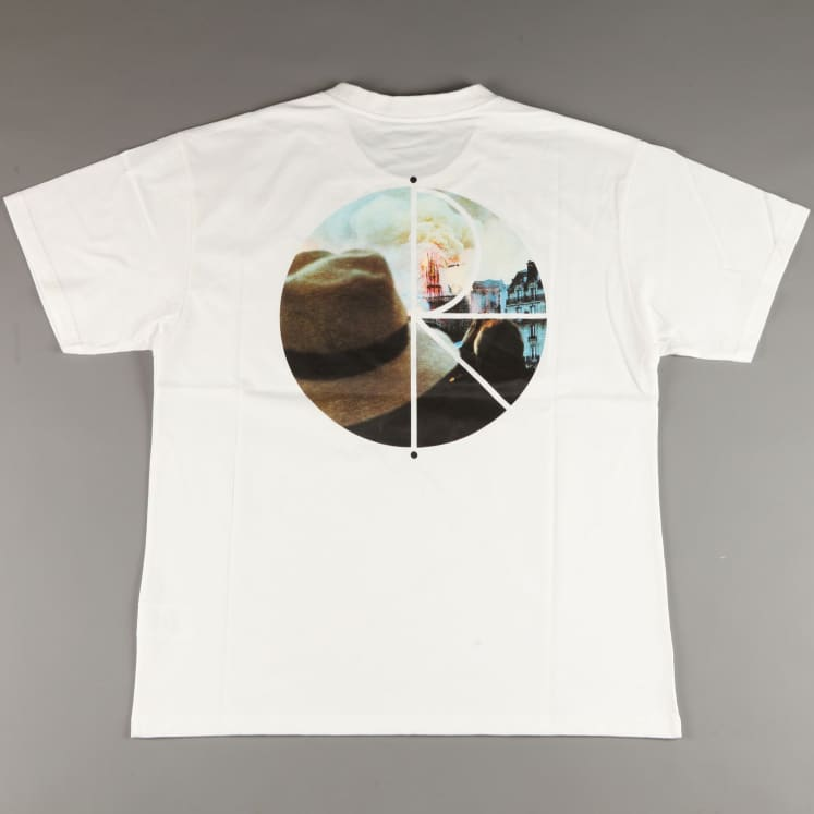 Camiseta Polar Skate Co Notre Dame Fill Logo Tee White Blanco