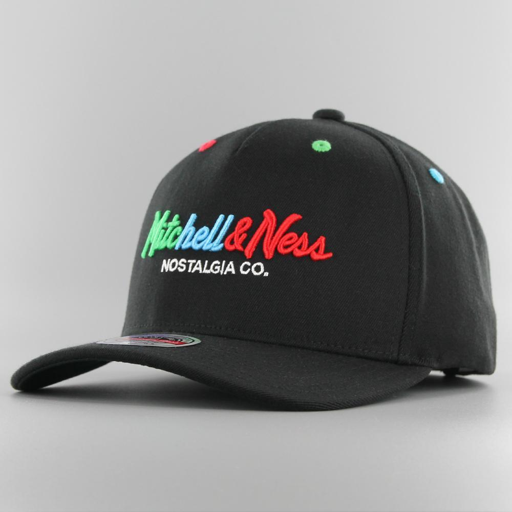 mithcell & ness cap rgb embroidered logo redline snapback
