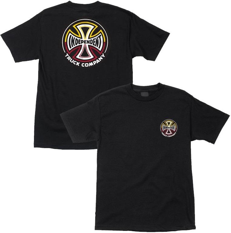 camiseta independent split cross black