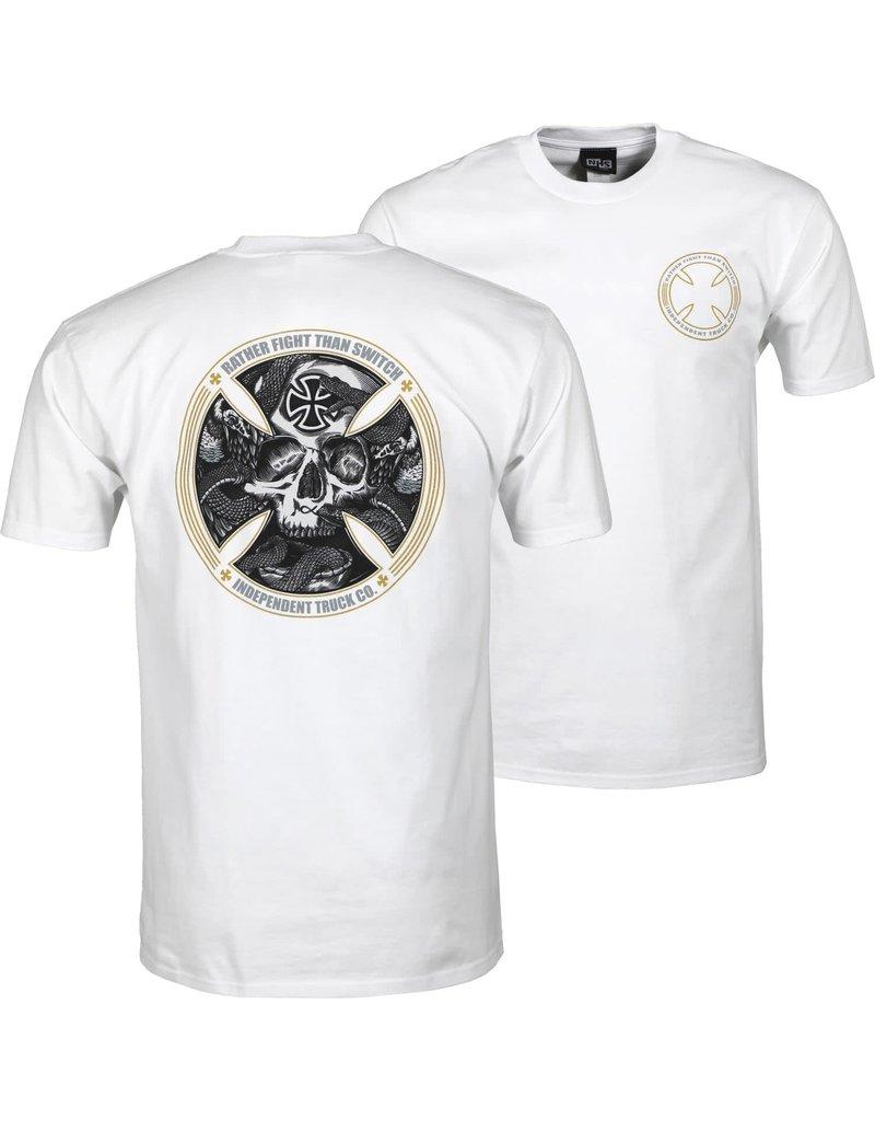 independent skull fts camiseta offwhite