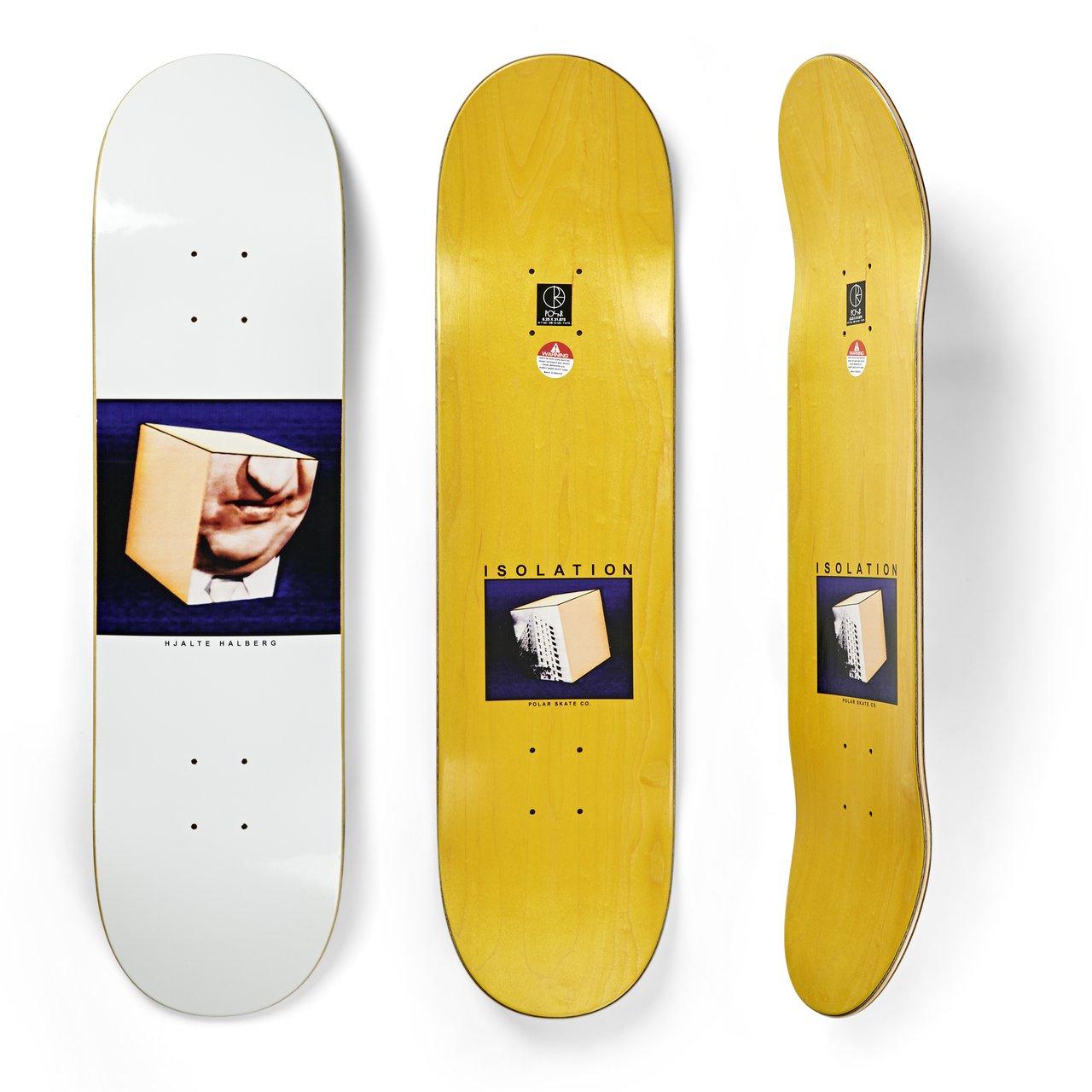 hjalte halberg 8.0 skate board deck polar skate co isolation