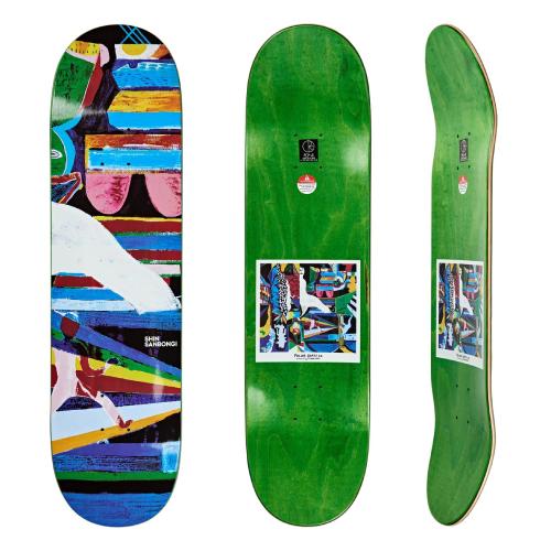shin sanbongi polar skate co deck tabla skate memory palace 9.0